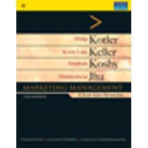 Marketing Management A South Asian Perspective Old Edition by Philip Kotler