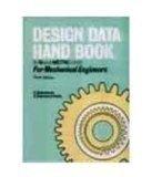 Design Data Handbook In SI and Metric Units For Mechanical Engineers 0 by Mahadevan
