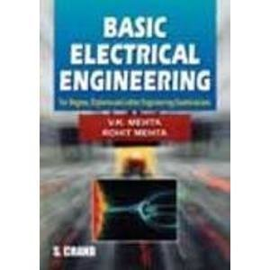 Basic Electrical Engineering                        Paperback by V.K Mehta (Author), Rohit Mehta | Pustakkosh.com