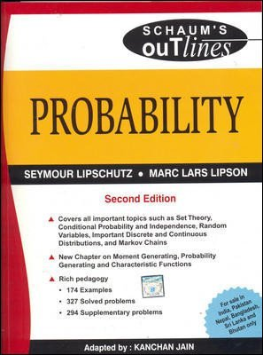 PROBABILITY Schaums Outlines Series by Seymour Lipschutz