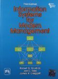 Information Systems for Modern Management by Murdick