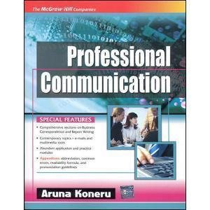 Professional Communication by Aruna Koneru