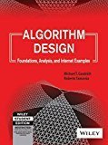 Algorithm Design Foundations Analysis and Internet Examples by Michael T. Goodrich