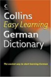 Collins Easy Learning German Dictionary Collins Easy Learning German Easy Learning Dictionary by NA
