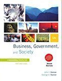 Business Government and Society by John Steiner