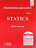 Engineering Mechanics Statics- Vol.1 by J.L Meriam