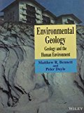 Environmental Geology Geology And The Human Environment Pb 2016 by Bennett M.R.