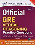 Official Gre Verbal Reasoning Practice Questions Old Edition by ETS