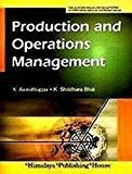 Production And Operation Management by K. ASWATHAPPA