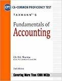 Fundamentals of Accounting CA CPT by D.G. Sharma