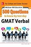 Mcgraw - Hill Education 500 GMAT Verbal Questions to Know by Test Day by Kathy A. Zahler