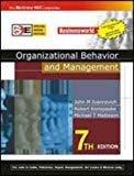 ORGANIZATIONAL BEHAVIOUR AND MANAGEMENT SIE by Robert Konopaske