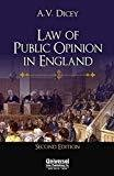 Law and Public Opinion in England - Indian Economic Reprint by Dicey A.V.