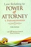 Law Relating to Power of Attorney with 125 Specimen Forms of Power of Attorney 2013 Reprint by Parameswaran