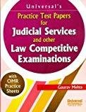 Practice Test Papers for Judicial Service and other Law competitive Examinations by Mehta Gaurav