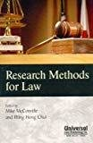 Research Methods for Law First Indian Reprint by McConville Mike