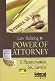 Law Relating to Power of Attorney with 125 Specimen Forms of Power of Attorney by Parameswaran