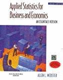 Applied Statistics for Business and Economics An Essentials Version by Allen Webster