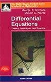 Differential Equations Theory - Technique and Practice by George Simmons