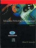 INFORMATION TECHNOLOGY FOR MANAGEMENT by Henry Lucas