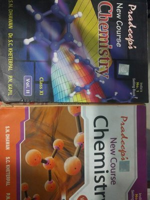 Pradeeps New  Course Chemistry for Class 11  Session Set of 2 Volumes by S. N. Dhawan