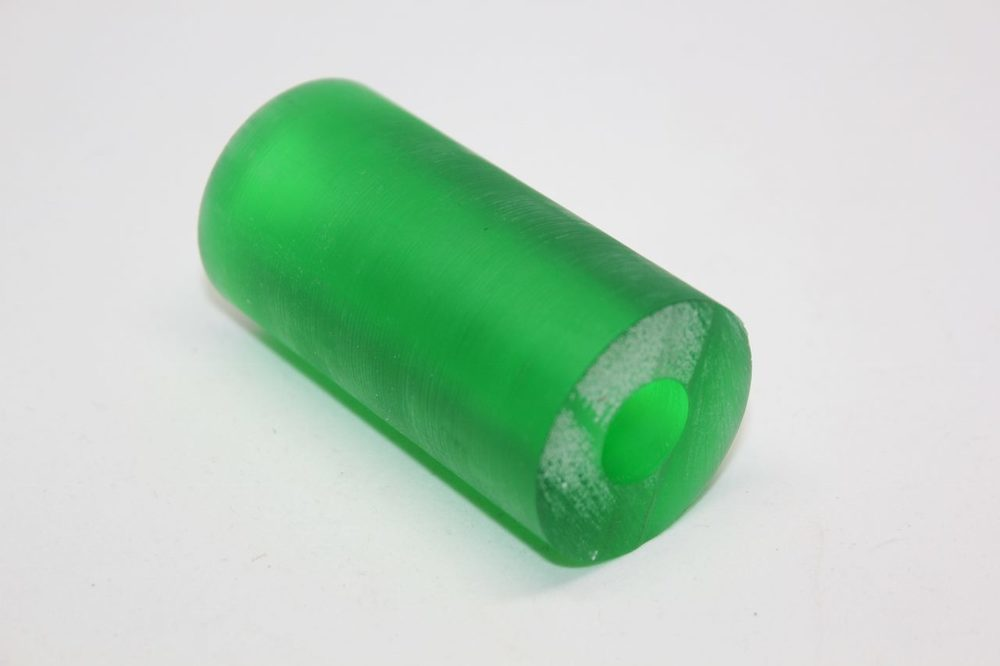 "Duck Call Blank Acrylic Translusent Green Drilled 5/8"" Hole"