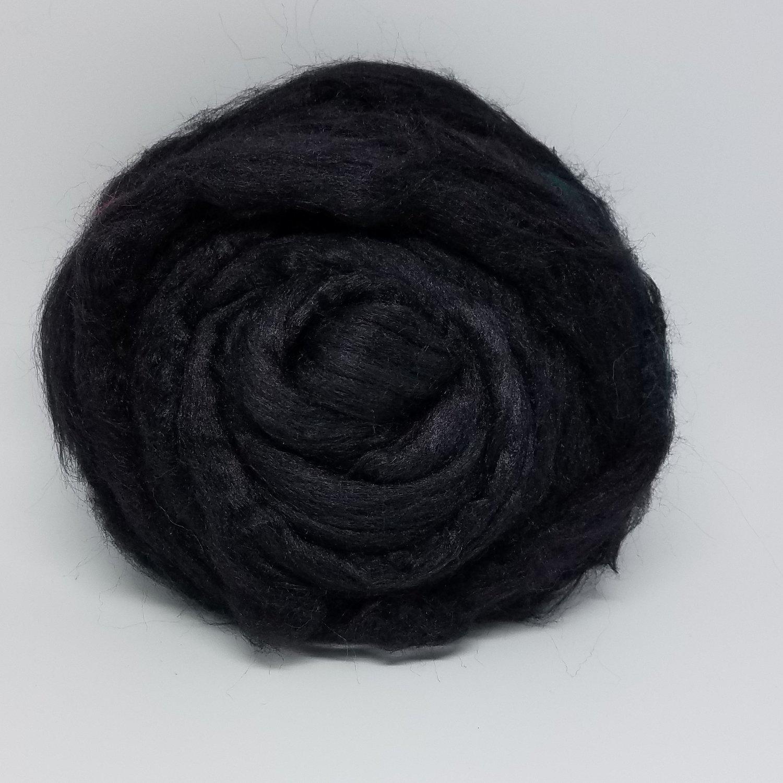 Dyed Tussah Silk Spinning Fiber - Black