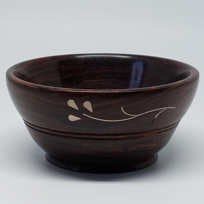 Sheesham Support Spindle Wood Bowl