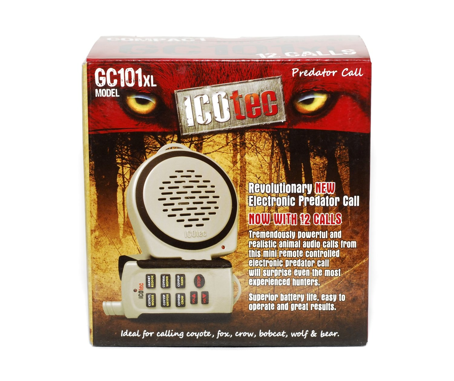 ICOtec GC101XL - Compact Electronic Predator Game Call autherized dealer