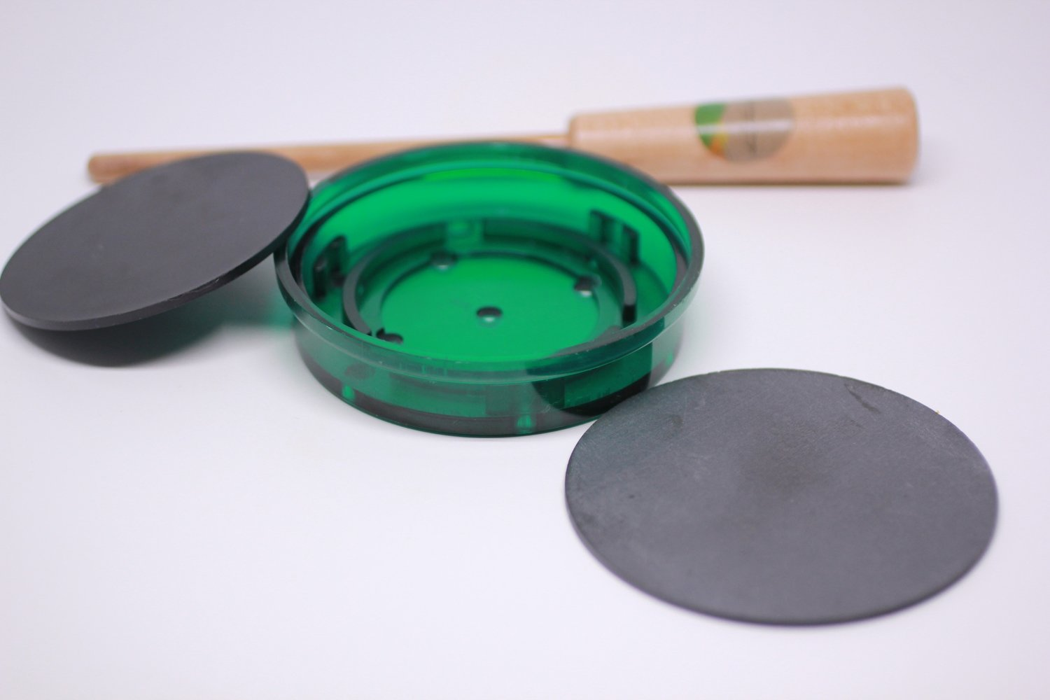 Turkey Pot Call Kit Slate/Polymer (Green) Build Your Own with Free Striker