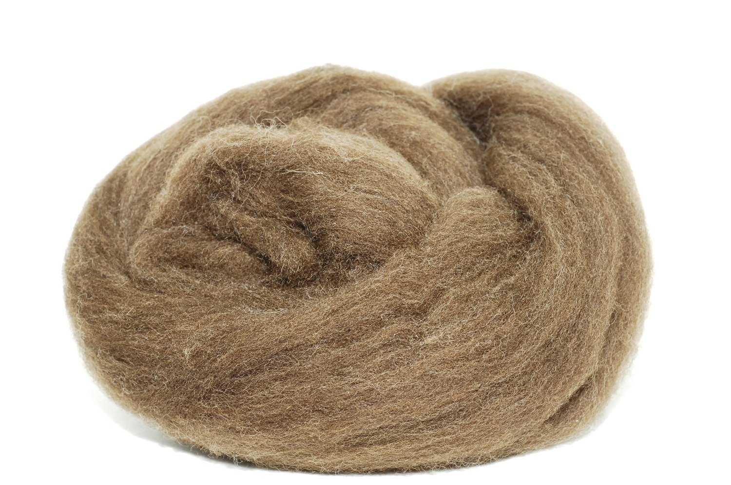 Natural Brown Merino Roving Spinning Fiber