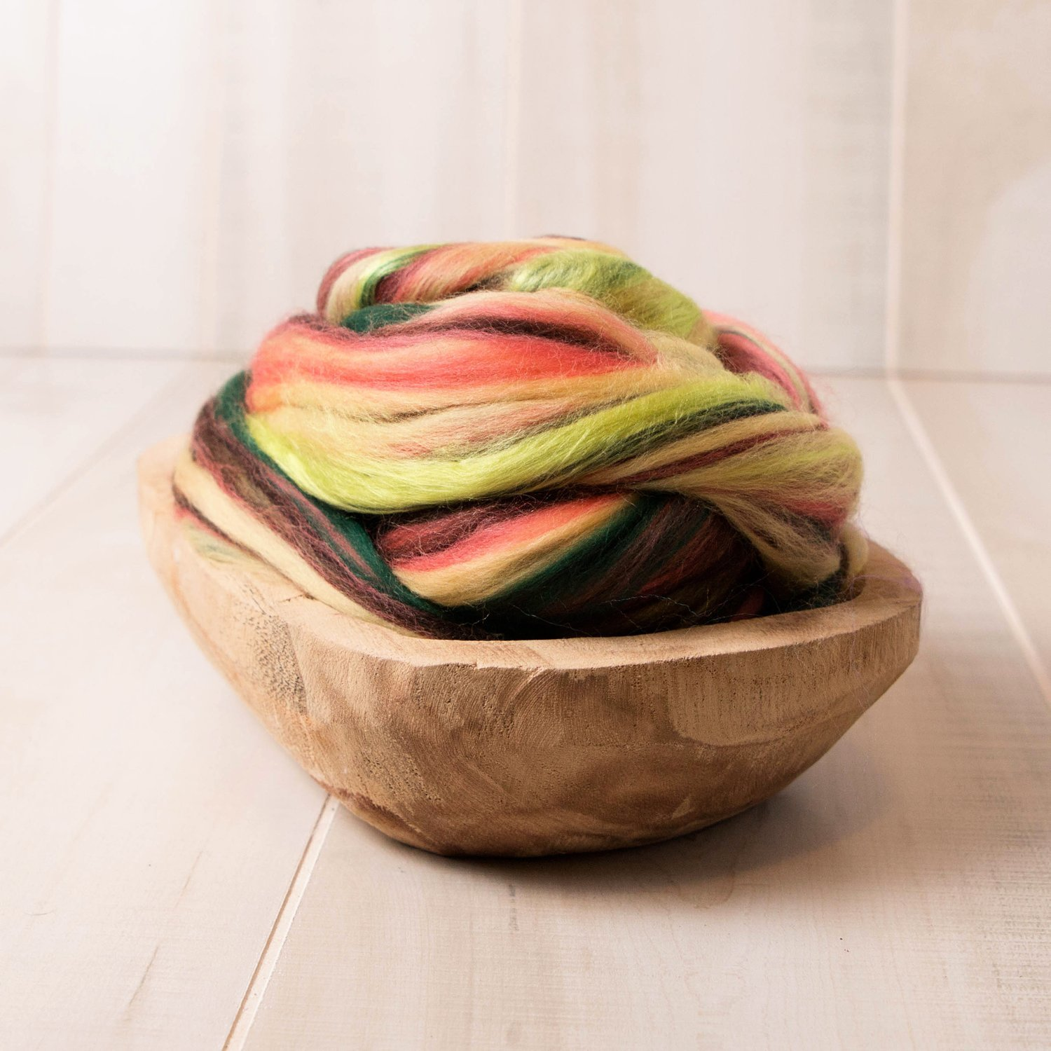 Pineapple Surprise Wool Roving for Spinning, Felting and Fiber Arts