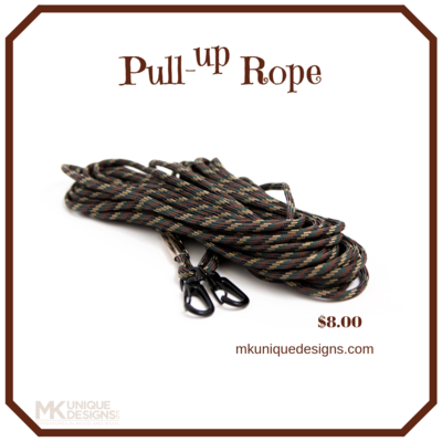 Pull-Up Rope Camo Hunting Hoist your Bow Gun Gear 30-Foot Heavy Metal clasps