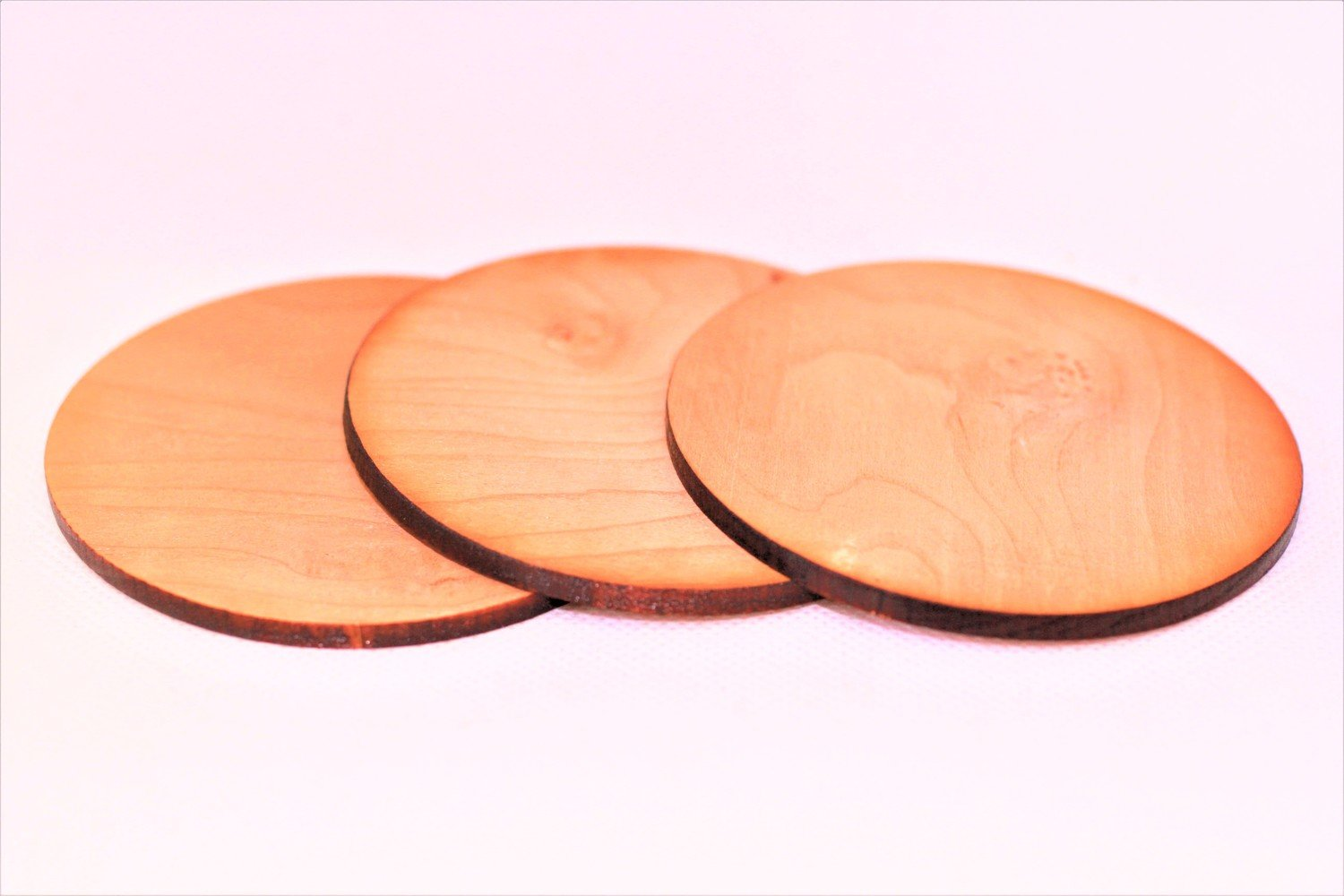 """Three (3) 3"""" Cherry Sound Boards for Turkey Pot Friction Calls"""