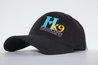 Black Twill Hat with Teal Logo
