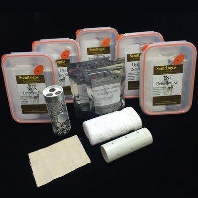 Scentlogix - Any 5 Double-Aid K9 Explosives Scents Bundled KIT Set (Excludes Peroxides: TATP & HMTD)