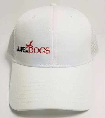 A Life of Dogs Trucker Hat - White