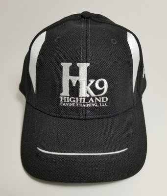 Black & White Twill Race Hat with White Logo