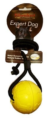 Schweikert Expert Dog Ball on a Rope Large (Yellow)