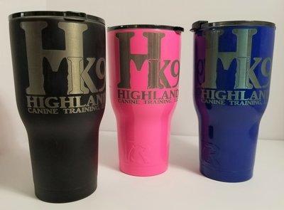 Tumbler, RTIC 30-ounce - Highland K9 Logo - Black