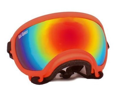 X-Small Rex Specs Dog Goggle (Orange Frame)