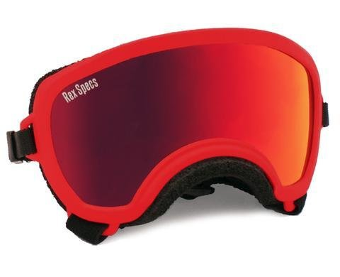 Small WIDE Rex Specs Dog Goggle (Red Frame)
