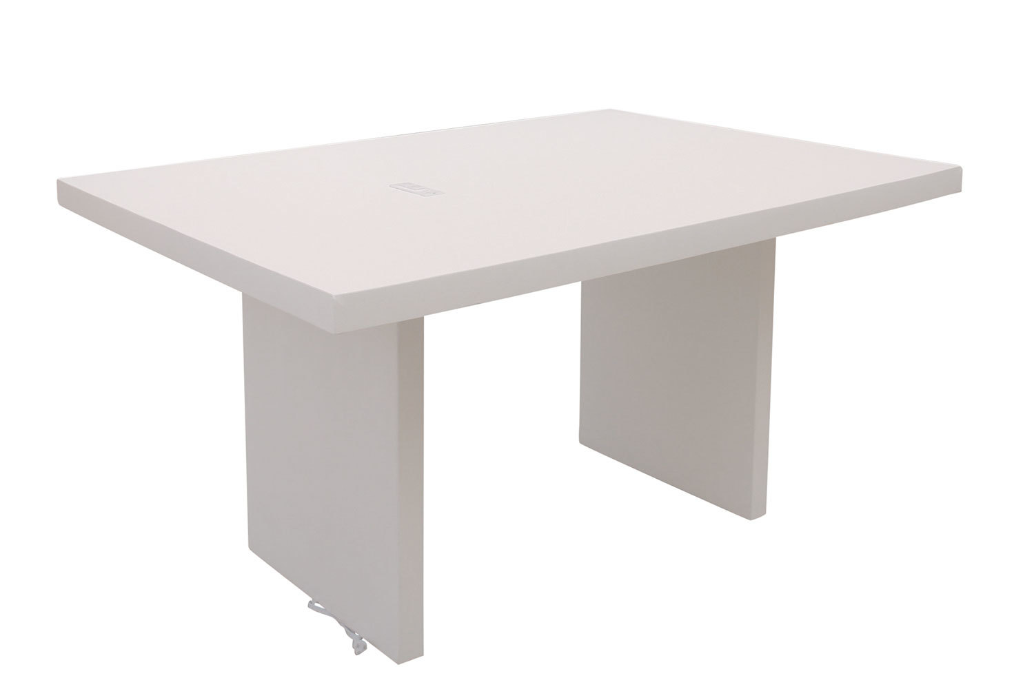 5' White Charging Conference Table 5219