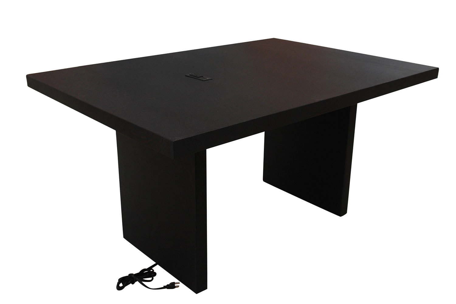 5' Black Charging Conference Table 5218