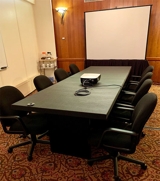 Black 10' Charging Conference Table