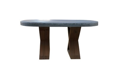 Concrete Oval Cocktail Table
