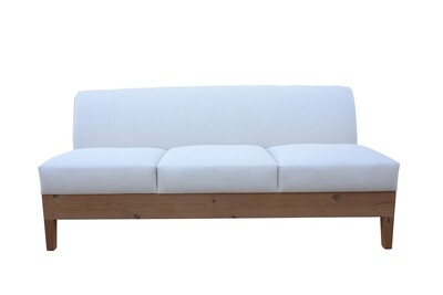 Wood Base Armless Sofa