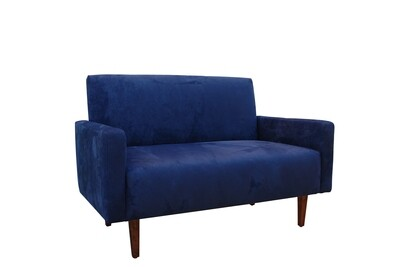 Blue Suede Loveseat