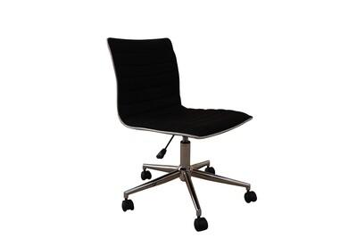 Black Midback Armless Chair