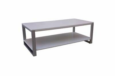 White Steel Rectangle Cocktail Table